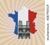 icon design of france   vector... | Shutterstock .eps vector #408790519