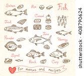 Set Drawings Of Fish For Desig...