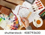 architectural facade drawing ... | Shutterstock . vector #408793630