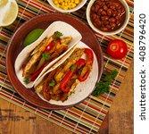 Fajita Chicken Tacos With...