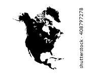 vector map north america.... | Shutterstock .eps vector #408797278