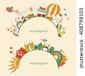 vector illustration of dreams... | Shutterstock .eps vector #408798103