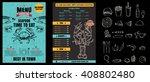 brochure or poster restaurant ... | Shutterstock .eps vector #408802480