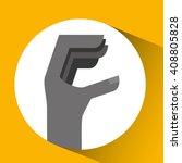 hand language design    Shutterstock .eps vector #408805828