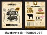 restaurant fast foods menu... | Shutterstock .eps vector #408808084