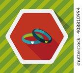 valentine's day couple bracelet ... | Shutterstock .eps vector #408810994