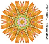 mandala. round ornament pattern.... | Shutterstock .eps vector #408812260