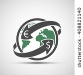 simple icon earth planet with... | Shutterstock .eps vector #408821140