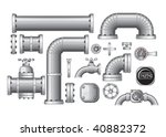 vector collection of pipe and... | Shutterstock .eps vector #40882372