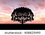 Single Tree With Pink Clouds