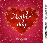 happy mother's day greeting... | Shutterstock .eps vector #408826549