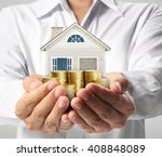 mortgage concept by money house ... | Shutterstock . vector #408848089