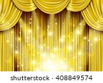golden curtain with spotlights | Shutterstock .eps vector #408849574