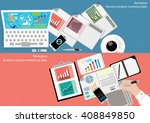 vector business workplace... | Shutterstock .eps vector #408849850