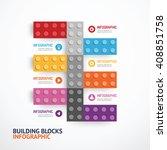 infographic template building... | Shutterstock .eps vector #408851758