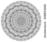 flower vector mandala | Shutterstock .eps vector #408853000