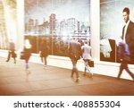 business people walking... | Shutterstock . vector #408855304