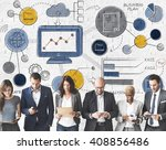 business plan strategy analysis ... | Shutterstock . vector #408856486