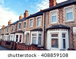 row of typical english terraced ... | Shutterstock . vector #408859108