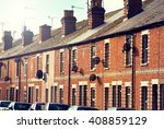 row of typical english terraced ... | Shutterstock . vector #408859129