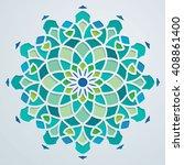 arabic pattern geometric ornate ...   Shutterstock .eps vector #408861400