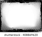 vector frame with halftone dots.... | Shutterstock .eps vector #408869620