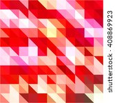 red pink triangle grid... | Shutterstock .eps vector #408869923