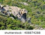 corsica  mountain   | Shutterstock . vector #408874288