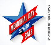memorial day sale banner vector ... | Shutterstock .eps vector #408878938