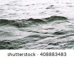 waves of the sea with sea foam... | Shutterstock . vector #408883483
