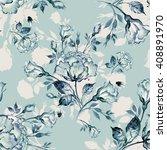 watercolor seamless pattern... | Shutterstock . vector #408891970