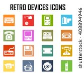 devices retro old set icon...   Shutterstock .eps vector #408894946