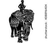 vector illustration of a tribal ...   Shutterstock .eps vector #408896404