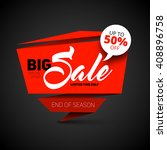big sale banner  shop template... | Shutterstock .eps vector #408896758