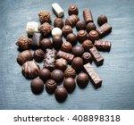 various chocolates   sweet food   Shutterstock . vector #408898318