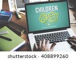 children childhood kids... | Shutterstock . vector #408899260