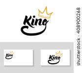 """king"" logo template 