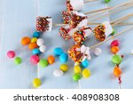 tasty marshmallows with... | Shutterstock . vector #408908308