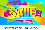 sale. summer. | Shutterstock .eps vector #408909220