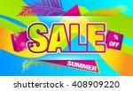 sale. summer discount.... | Shutterstock .eps vector #408909220