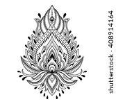 henna tattoo flower template in ... | Shutterstock .eps vector #408914164