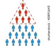 business concept. vector...   Shutterstock .eps vector #40891645