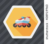 roller skates flat icon with... | Shutterstock .eps vector #408919960