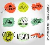organic bio vegan frash eco... | Shutterstock .eps vector #408920050