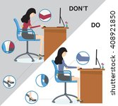 office syndrome do and don't... | Shutterstock .eps vector #408921850