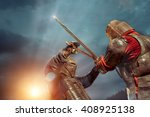 Battle Of A Medieval Knights O...
