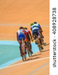 bike race on velodrome track... | Shutterstock . vector #408928738