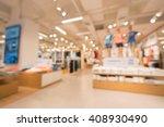 Blurred, defocused background of modern clothing store