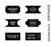 simple ticket icon set. event ... | Shutterstock .eps vector #408936838