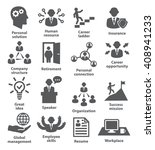 business people management icons | Shutterstock . vector #408941233